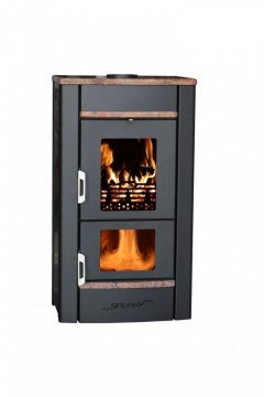 Pyrolytic stoves - Stone cladding - Maple Red