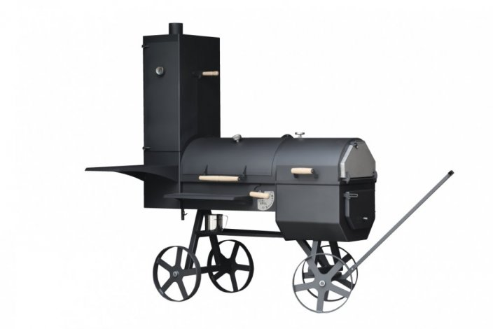 Locomotive VARI Grill for wood with oven and smoker