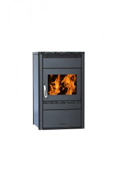 With warm-air distribution - Stove weight (kg) - 185